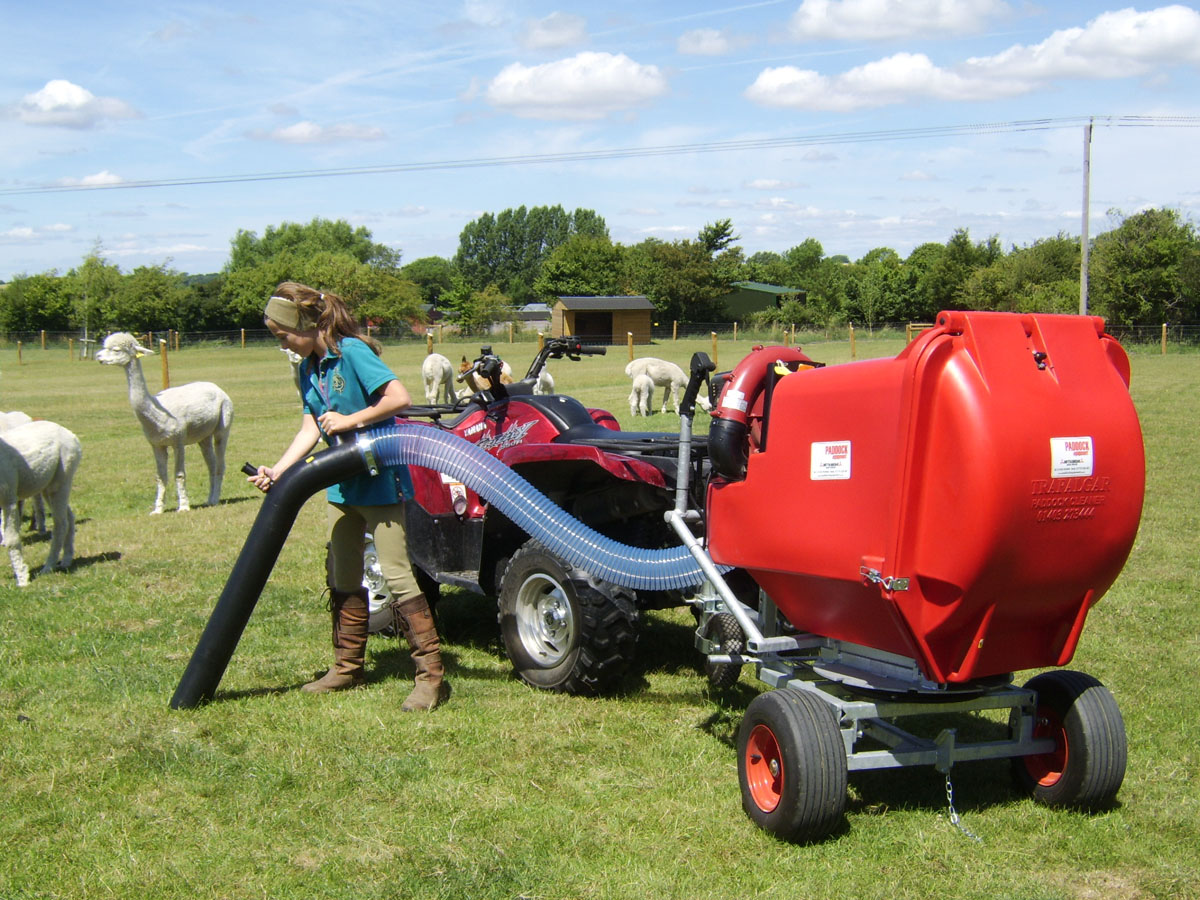 ride-on field vacuums UK delivery